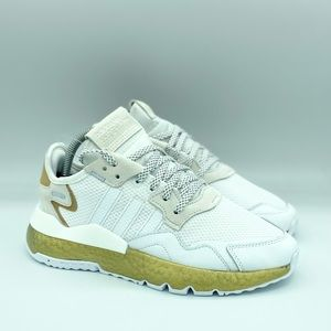 ADIDAS NITE JOGGER BOOST RUNNING SHOES WHITE/GOLD